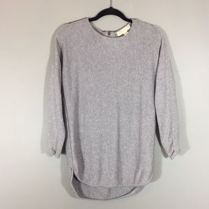 Michael Kors grey sweater with zipper accent